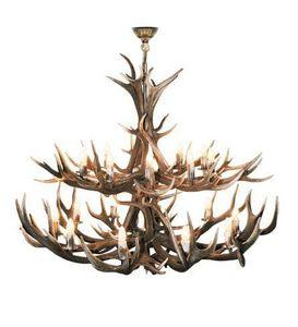 Clock House Furniture - extra large 2- tier red deer - Kronleuchter