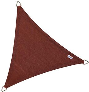 jardindeco - voile d'ombrage triangulaire coolfit terracotta 5 - Schattentuch