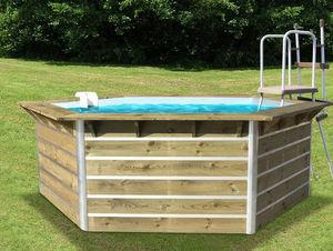 WATER CLIP - cebu - Pool Mit Holzumrandung
