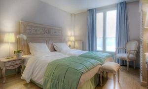DECO PRIVE - tête de lit en bois cérusé - Doppelbett