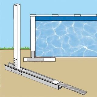 GRE - Pool mit Stahlohrkasten-GRE-Piscine VARADERO 640 x 390 x 120 cm