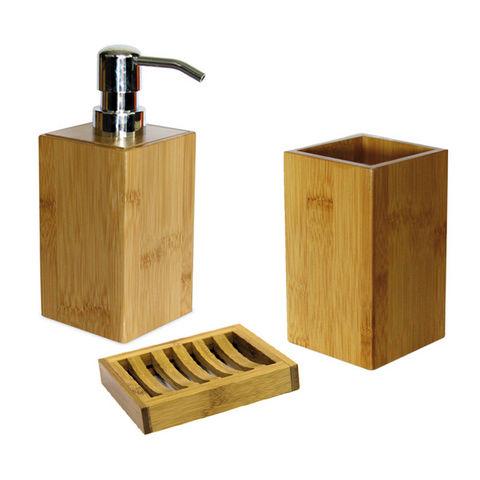 WHITE LABEL - Seifenspender-WHITE LABEL-Porte-savon gobelet et distributeur de savon en ba