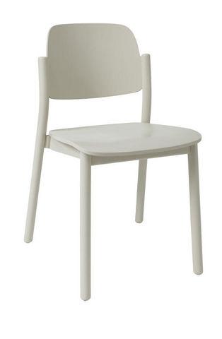 MARCEL BY - Stuhl-MARCEL BY-Chaise april en hêtre blanc perlé 49x50x78cm