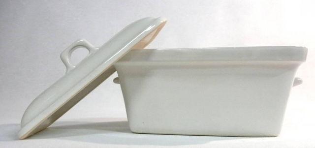 DM CREATION - Terrine Schüssel-DM CREATION-Terrine foie gras ivoire en grès émaillé 19,5x9x11