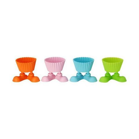 La Chaise Longue - Kuchenform-La Chaise Longue-Set de 4 cupcakes