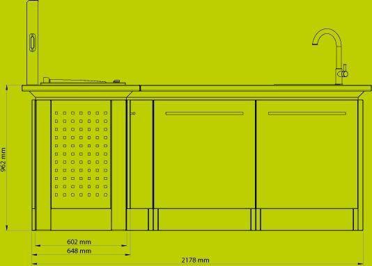 NOBLINOX - Sommerküche-NOBLINOX-Cuisine d'angle / Personnalisable