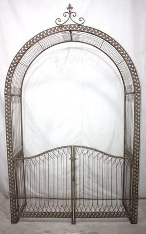 Demeure et Jardin - Gartentor-Demeure et Jardin-Arche et portail de jardin en fer forgé