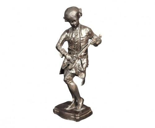 Demeure et Jardin - Kleine Statue-Demeure et Jardin-Statue de violoniste en bronze Mozart