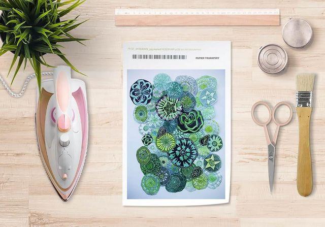la Magie dans l'Image - Verlegung-la Magie dans l'Image-Papier transfert Jardin Vert