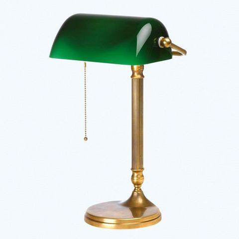 Berliner Messinglampen - Banker-Lampe-Berliner Messinglampen