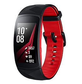 Samsung - Verbundenes armband-Samsung-Gear Fit2 Pro L Noir Rouge