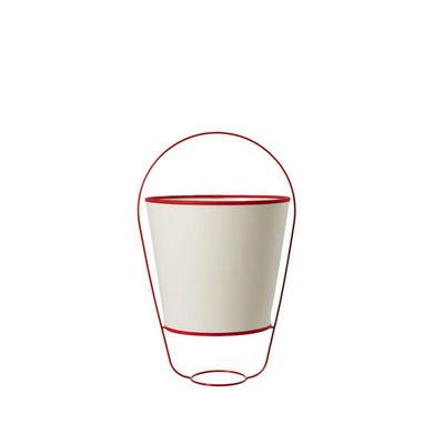 Forestier - Tischlampen-Forestier-BUCKET - Lampe Blanc/Rouge H48cm | Lampe à poser F