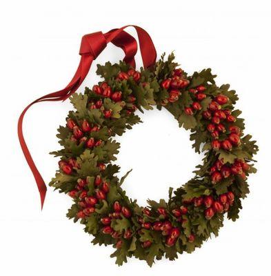 Rosemarie Schulz - Weihnachtskranz-Rosemarie Schulz-feuilles de chêne