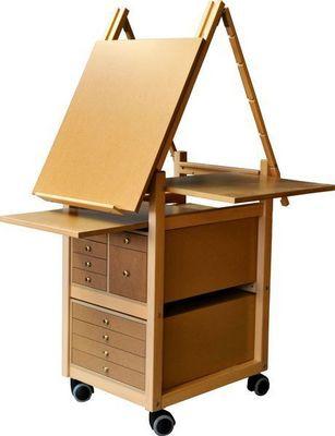 Auboi - Staffelei-Auboi-Chevalet à tiroirs