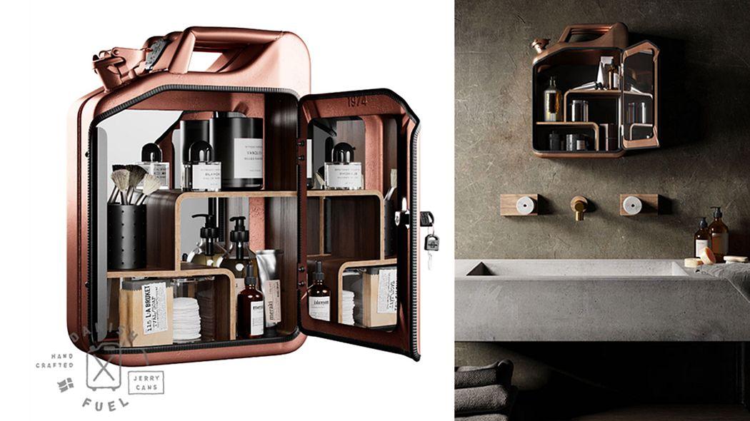 Danish Fuel Armario de aseo Muebles de baño Baño Sanitarios  |