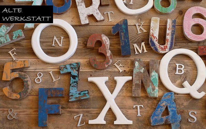 ALTE WERKSTATT Letra decorativa Números y letras decorativos Objetos decorativos  |