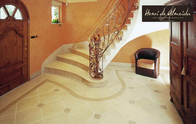 Henri de Almeida Créations Escalera dos cuartos de giro Escaleras/escalas Equipo para la casa Entrada | Clásico