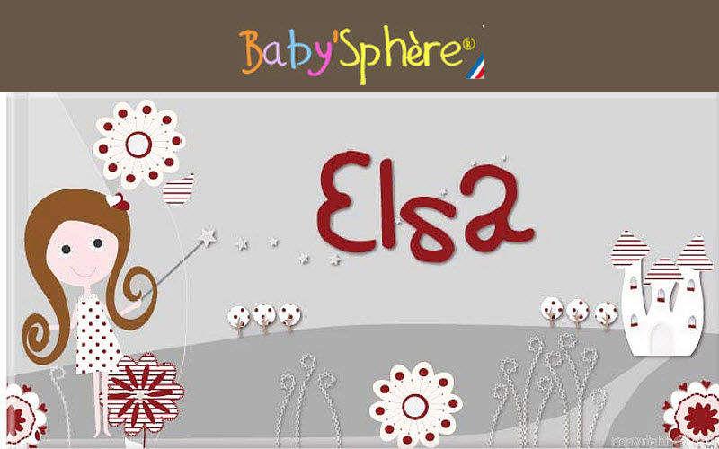 BABY SPHERE Placa de puerta para niño Decoración infantil El mundo del niño   