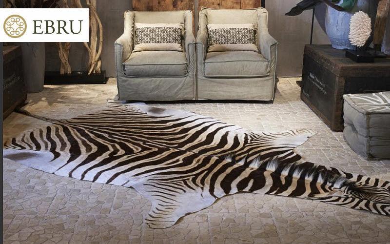 Ebru Piel de cebra Piel de animal Alfombras Tapices Salón-Bar | Lugares exóticos