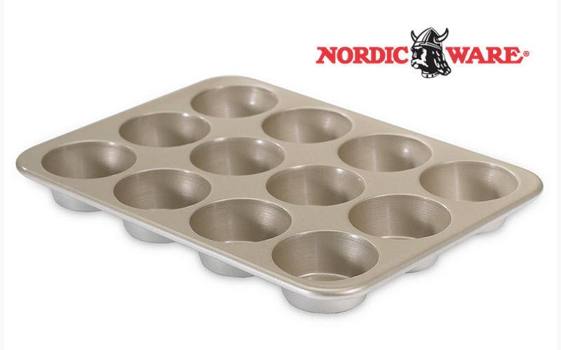 Nordic Ware Molde para magdalenas Moldes Cocción  |