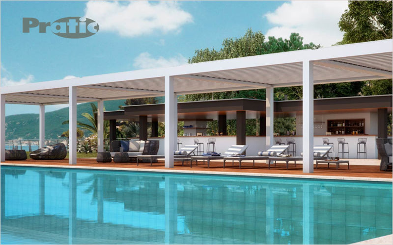PRATIC Cubierta para terraza Sombrillas y estructuras tensadas Jardín Mobiliario  |