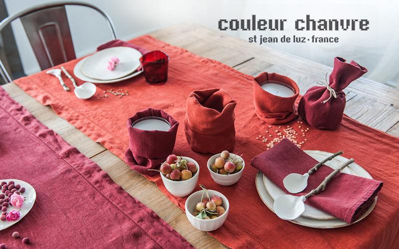 Couleur Chanvre Cara a cara Manteles & paños de cocina Ropa de Mesa  |
