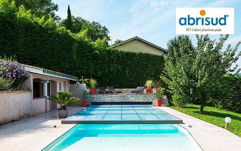 Abrisud Cubierta de piscina extra plana motorizada Cabinas de piscina Piscina y Spa  |
