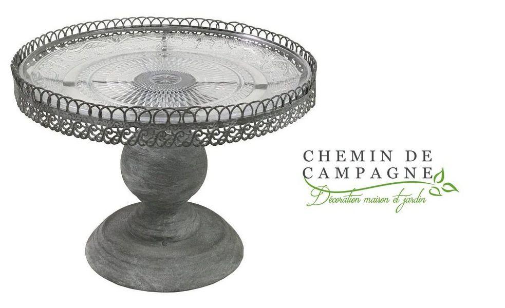 CHEMIN DE CAMPAGNE Plato para tartas con base Platos Vajilla  |