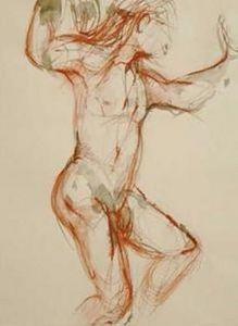 Anna De Polnay Dibujo a carboncillo