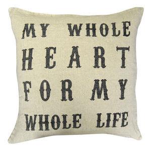Sugarboo Designs - pillow collection - script my whole heart - Cojín Cuadrado