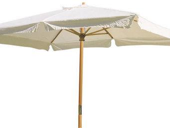 ALPINA GARDEN - parasol rectangulaire en hêtre avec toile coton 30 - Sombrilla
