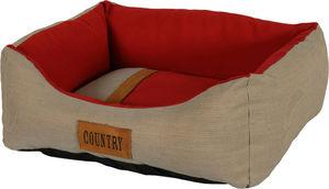 ZOLUX - sofa country rouge en tissu et polyester 50x40x17c - Cesto Para Perros