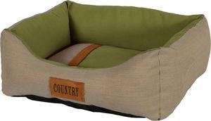 ZOLUX - sofa country vert en tissu et polyester 50x40x17cm - Cesto Para Perros