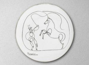 MARC DE LADOUCETTE PARIS - cheval et dompteur - Plato De Presentación
