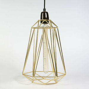 Filament Style - diamond 5 - suspension or câble noir ø21cm | lampe - Lámpara Colgante