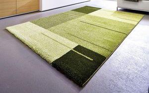 WHITE LABEL - samoa design tapis patchwork vert - 160x230 cm - Alfombra Contemporánea