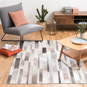 Maisons du monde - tapis en cuir 140x200 art - Alfombra Contemporánea
