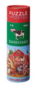 BERTOY - 100 pc puzzle & poster barnyard - Rompecabezas Niño