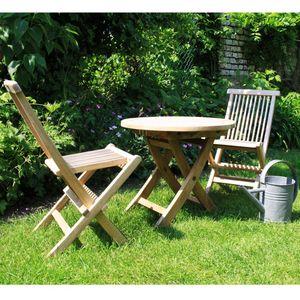 BOIS DESSUS BOIS DESSOUS - salon de jardin pour enfant en bois de teck midlan - Comedor De Exterior