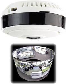 7 LINKS - caméra de surveillance ip panoramique 360° à vision pir - Cámara De Vigilancia