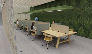 BUZZISPACE - desk-split-- - Panel Para Oficina