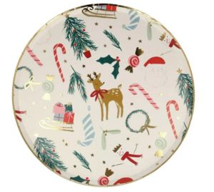 MERI MERI - festive motif - Plato De Cartón De Navidad