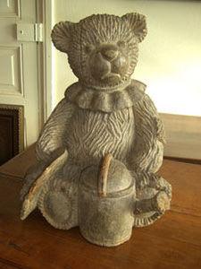 ANTIQUITES THUILLIER - charmant ours en bois - Escultura De Animal