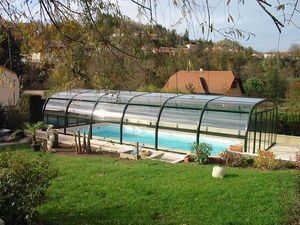 Abri piscine POOLABRI - espaceo - Cubierta De Piscina Fija Independiente