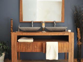 SANITECK - meuble de salle de bain en teck borneo - Mueble De Ba�o Dos Senos
