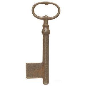 FERRURES ET PATINES - clef en fonte vieilli style louis xiv, regional - Llave De Mueble