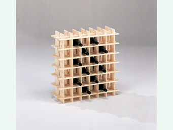 BARCLER - casier à vin en bois 36 bouteilles 71,5x22x71,5cm - Casillero De Vino