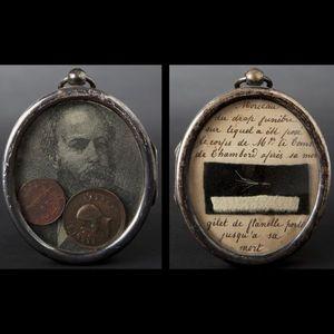 Expertissim - buste du comte de chambord en cristal et cadre rel - Retrato Miniatura