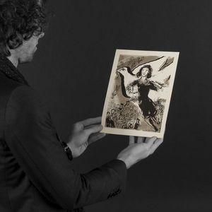 Expertissim - marc chagall (d?après). anne franck, lithographie - Litografía