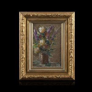 Expertissim - mimi verry, nature morte au bouquet de fleurs - Cuadro Decorativo